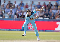 Chris Wakes (England) in action during England vs New Zealand, ICC World Cup Cricket at The Riverside Ground on 3rd July 2019