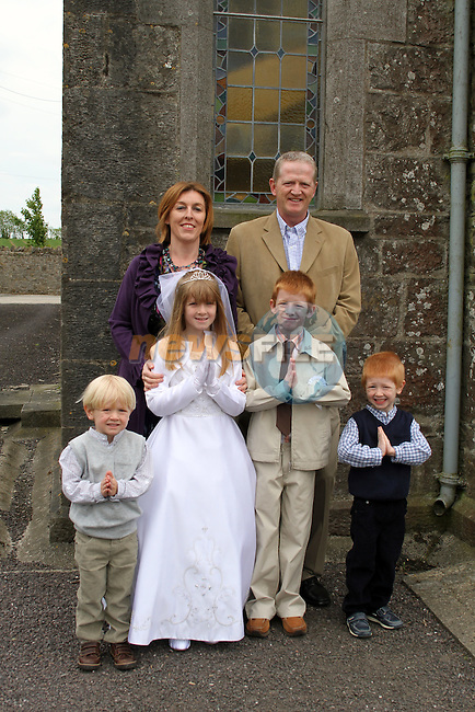 Twins Finn and Darcy Lawler with their family at the 2011 Donore NS First Holy Communion...(Photo credit should read Jenny Matthews www.newsfile.ie)....This Picture has been sent you under the conditions enclosed by:.Newsfile Ltd..The Studio,.Millmount Abbey,.Drogheda,.Co Meath..Ireland..Tel: +353(0)41-9871240.Fax: +353(0)41-9871260.GSM: +353(0)86-2500958.email: pictures@newsfile.ie.www.newsfile.ie.
