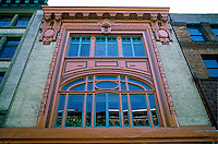 Seattle: Art Nouveau Facade, Lippy Building 1900 or 1902. 108 First Ave. S.,  E.W. Houghton. Photo '86.