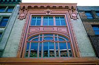 Seattle: Art Nouveau Facade, Lippy Building 1900 or 1902. 108 First Ave. S.,  E.W. Houghton. Photo '86.