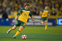 MELBOURNE, AUSTRALIA - MAY 24, 2010: Brett Holman of the Qantas Socceroos controls the ball at the FIFA World Cup farewell match between Australia and New Zealand at the Melbourne Cricket Ground, 24 May, 2010 in Melbourne, Australia. Photo by Sydney Low / www.syd-low.com