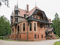 Jagdschloss Gelbensande erbaut 1885-1887 von Gotthilf Ludwig Möckel, Mecklenburg-Vorpommern, Deutschland