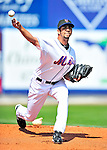 2 March 2010: New York Mets' pitcher Nelson Figueroa on the mound against the Atlanta Braves during the Opening Day of Grapefruit League play at Tradition Field in Port St. Lucie, Florida. The Mets defeated the Braves 4-2 in Spring Training action. Mandatory Credit: Ed Wolfstein Photo