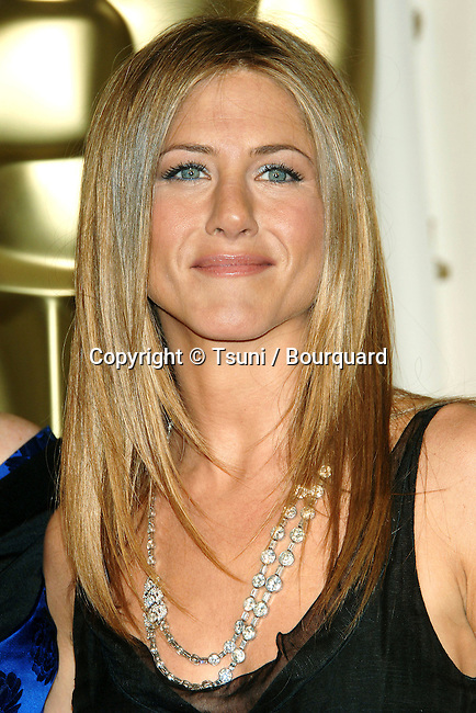 Jennifer Aniston backstage at the 78th Academy of Motion Pictures (Oscars)  at the Kodak Theatre in Los Angeles. March 5, 2006