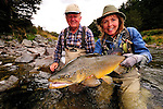 Fly fishing,South Island of New Zealand, muddy water