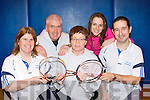 Killarney Badminton club who are celebrating the club's 80th anniversary this year and are planning a number of events to celebrate it l-r: Suzanne Smith, Paudie Horan,  Peggy Horan, Elaine O'Neill and Danny Cronin..