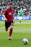 13.04.2019, Weser Stadion, Bremen, GER, 1.FBL, Werder Bremen vs SC Freiburg, <br /> <br /> DFL REGULATIONS PROHIBIT ANY USE OF PHOTOGRAPHS AS IMAGE SEQUENCES AND/OR QUASI-VIDEO.<br /> <br />  im Bild<br /> Jerome Gondorf (SC Freiburg #20)<br /> Einzelaktion, Ganzkörper / Ganzkoerper<br /> <br /> <br /> Foto © nordphoto / Kokenge