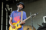 Gary Clark Jr. performs at the Klipsch Music Center in Indianapolis, Indiana.