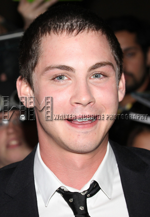 Logan Lerman attending the The 2012 Toronto International Film Festival.Red Carpet Arrivals for 'The Perks of Being a Wallflower' at the Ryerson Theatre in Toronto on 9/8/2012