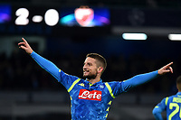 Dries Mertens of Napoli celebrates after scoring a goal during the Uefa Champions League 2018/2019 Group C football match betweenSSC Napoli and Crvena Zvezda at San Paolo stadium, Napoli, November, 28, 2018 <br /> Foto Andrea Staccioli / Insidefoto