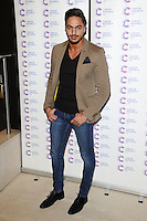 Mario Falcone arriving at James' Jog On To Cancer Event, Kensington Roof Gardens, London. 09/04/2014 Picture by: Alexandra Glen / Featureflash