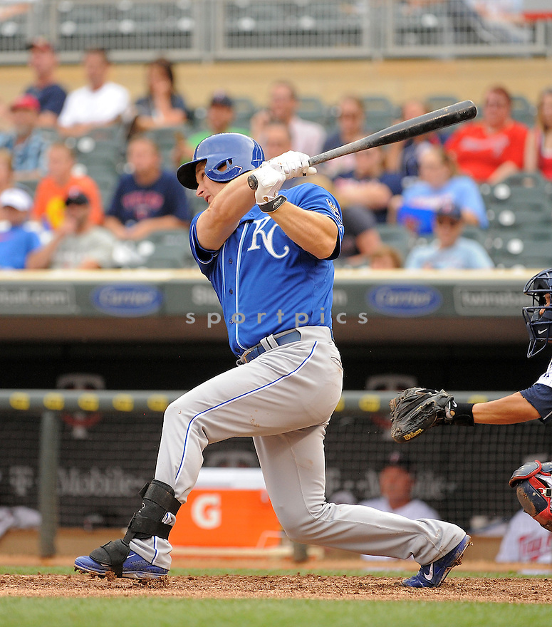 Kansas City Royals Josh Willingham (7) during a game against the Minnesota Twins on August 17, 2014 at Target Field in Minneapolis, MN. The Royals beat the Twins 12-6.