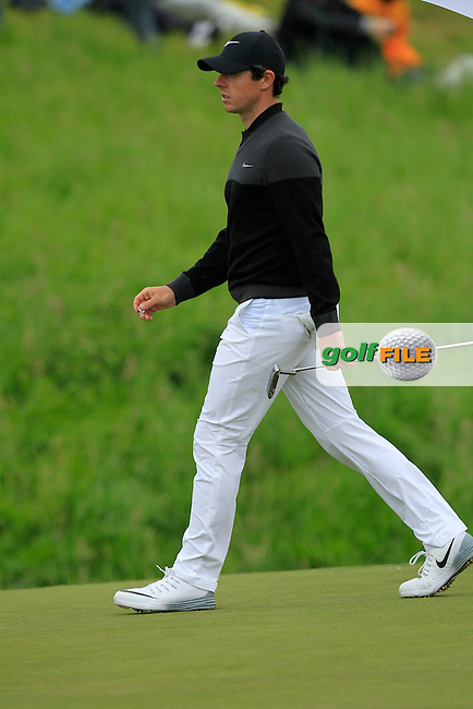 Rory McIlroy (NIR) on the 9th green during Round 4 of the 100th Open de France, played at Le Golf National, Guyancourt, Paris, France. 03/07/2016. <br /> Picture: Thos Caffrey | Golffile<br /> <br /> All photos usage must carry mandatory copyright credit   (&copy; Golffile | Thos Caffrey)