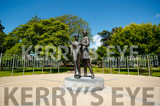 Rose Statue at Tralee Town Park in the sunshine.
