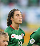 24 June 2006: Andres Guardado (MEX). Argentina (1st place in Group C) defeated Mexico (2nd place in Group D) 2-1 after extra time at the Zentralstadion in Leipzig, Germany in match 50, a Round of 16 game, in the 2006 FIFA World Cup.