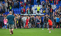 Supporters invade the pitch to try and catch the Liverpool players at the final whistle during the 2016/17 Pre Season Friendly match between Tranmere Rovers and Liverpool at Prenton Park, Birkenhead, England on 8 July 2016. Photo by PRiME Media Images.