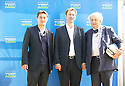 Nick Barlet,festival director,Rt Hon Jeremy Hunt,Minister for culture,media and sport in England and author Alexander McCall Smith  at The Edinburgh International Festival 2010 .CREDIT Geraint Lewis