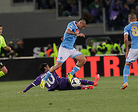 Marek Hamsik   during the the Italian Cup final soccer match between Napoli and  Fiorentina at the Olympic stadium in Rome May 3, 2014