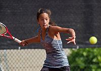 August 9, 2014, Netherlands, Rotterdam, TV Victoria, Tennis, National Junior Championships, NJK,  Daevinia Achong (NED)<br /> Photo: Tennisimages/Henk Koster