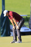 Justin Rose (ENG) misses his birdie putt on the 16th green during Friday's Round 2 of the 2018 Turkish Airlines Open hosted by Regnum Carya Golf &amp; Spa Resort, Antalya, Turkey. 2nd November 2018.<br /> Picture: Eoin Clarke | Golffile<br /> <br /> <br /> All photos usage must carry mandatory copyright credit (&copy; Golffile | Eoin Clarke)