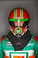 Feb 7, 2018; Pomona, CA, USA; NHRA funny car driver Jim Campbell poses for a portrait during media day at Auto Club Raceway at Pomona. Mandatory Credit: Mark J. Rebilas-USA TODAY Sports