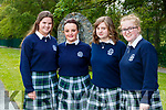 Aisling Harty, Anna Carmody, Alanna Blennerhassett and Elena Barry, students from Presentation Secondary School, Tralee, who attended their graduation Mass in St. John's Church, Tralee, on Friday evening last.