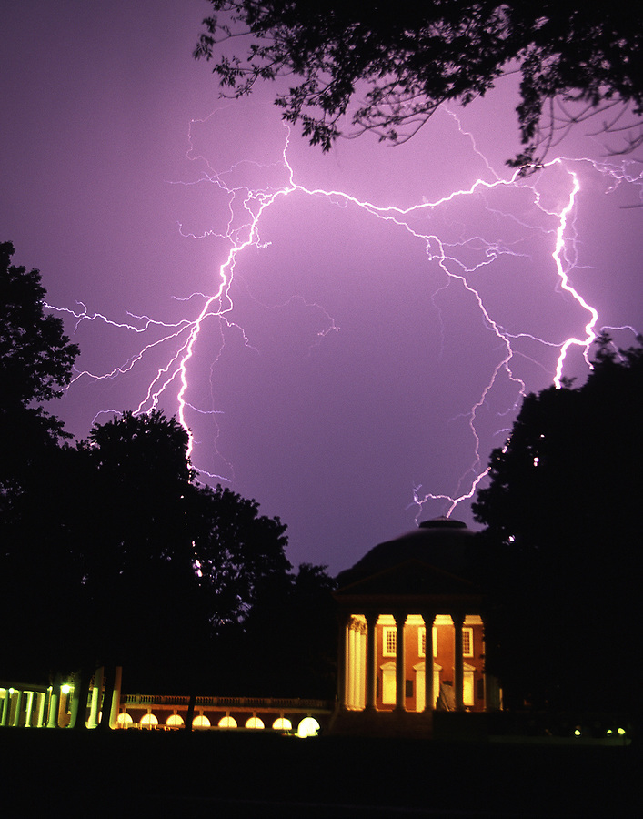 lightning over uva rotunda