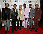 "James Harkness, Ephraim Sykes, Sergio Trujillo, Jawan M. Jackson, Jeremy Pope, and Derrick Baskin from ""Ain't Too Proud"" attends the Chita Rivera Awards at NYU Skirball Center on May 19, 2019 in New York City."