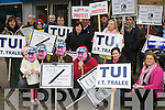 Angry Civil Servants who protested outside Jackie Healy Rae clinic in Scott's bar Killarney on Saturday
