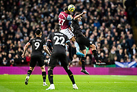Aston Villa's Ahmed Elmohamady (left) competing with Manchester City's Rodri in the air<br /> <br /> Photographer Andrew Kearns/CameraSport<br /> <br /> The Premier League - Aston Villa v Manchester City - Sunday 12th January 2020 - Villa Park - Birmingham<br /> <br /> World Copyright © 2020 CameraSport. All rights reserved. 43 Linden Ave. Countesthorpe. Leicester. England. LE8 5PG - Tel: +44 (0) 116 277 4147 - admin@camerasport.com - www.camerasport.com