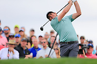 Keegan Bradley (USA) on the 11th tee green during the 3rd round of the Waste Management Phoenix Open, TPC Scottsdale, Scottsdale, Arisona, USA. 02/02/2019.<br /> Picture Fran Caffrey / Golffile.ie<br /> <br /> All photo usage must carry mandatory copyright credit (© Golffile | Fran Caffrey)