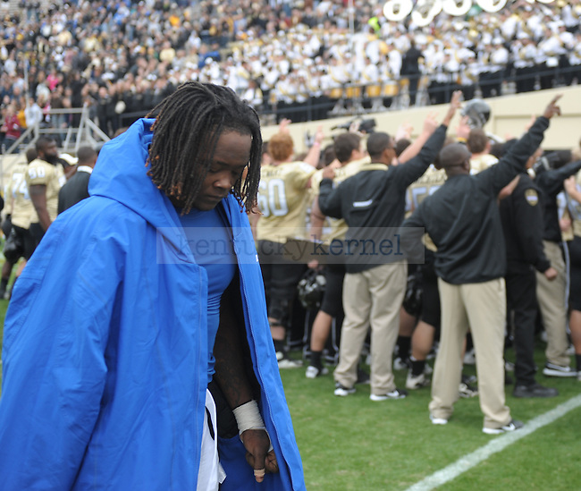 Kentucky Wildcats LB Danny Trevathan (22) after the University of Kentucky Football game against  Vanderbilt at Vanderbilt Stadium in Nashville, Tn., on 11/12/11. Uk lost the game 8-38. Photo by Mike Weaver | Staff