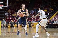 TEMPE, AZ - February 8, 2017: Cal Bears Men's Basketball team vs. the Arizona State University Sun Devils at Wells Fargo Arena. Final score, Cal Bears 68, Arizona State University Sun Devils 43.