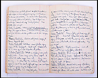 BNPS.co.uk (01202 558833)Pic: C&amp;TAuctions/BNPS<br /> <br /> Lieutenant James Riccomini MBE's log book.<br /> <br /> The remarkable story of an SAS hero who escaped captivity by jumping out of a moving train and carried out daring raids behind enemy lines before he was killed storming a German stronghold can be told after his bravery medals emerged for sale.<br /> <br /> After escaping his German captors, Lieutenant James Riccomini MBE spent four months assisting Italian resistance fighters with ammunition drops and intelligence gathering before scaling the Alps to reach neutral Switzerland when his cover was blown.<br /> <br /> Ten months later, he was dropped behind enemy lines and led a fearless ambush of a German armoured column before he was killed in action heading up an assault during the legendary Operation Tombola.<br /> <br /> His MBE, Military Cross and other medals along with letters he wrote to his wife, documents and photos are tipped to sell for &pound;12,000.