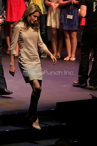 Princess Letizia attends the Buero Youth theater awards at Valle Inclan theater in Madrid. 08.07.2013<br /> C. Kasady/insight media /MediaPunch Inc. ***FOR USA ONLY***