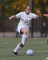 Boston College midfielder Patrice Vettori (18) controls the ball. Boston College defeated Marist College, 6-1, in NCAA tournament play at Newton Campus Field, November 13, 2011.