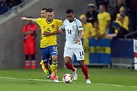 Jacob Murphy of England   and Adam Lundqvist of Sweden during Sweden Under-21 vs England Under-21, UEFA European Under-21 Championship Football at The Kolporter Arena on 16th June 2017