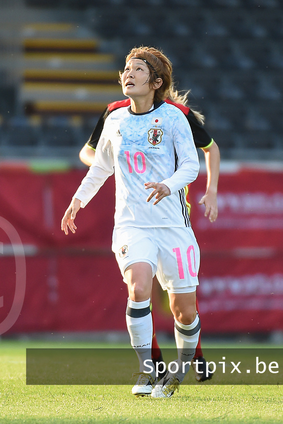 20170613 - LEUVEN ,  BELGIUM : Japanese Mizuho Sakaguchi   pictured during the female soccer game between the Belgian Red Flames and Japan , a friendly game before the European Championship in The Netherlands 2017  , Tuesday 13 th Juin 2017 at Stadion Den Dreef  in Leuven , Belgium. PHOTO SPORTPIX.BE | DIRK VUYLSTEKE