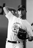 Raul Ibanez of the Riverside Pilots during a 1995 season game at Riverside Sports Park in Riverside,California.(Larry Goren/Four Seam Images)