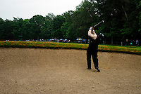 Angel Cabrera plays out of he fairway bunker on the 15th hole and drops a shot during the final round of the BMW PGA Championship at Wentworth Club, Surrey, England 27th May 2007 (Photo by Eoin Clarke/NEWSFILE)
