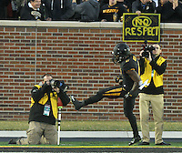 NWA Media/Michael Woods --11/28/2014-- w @NWAMICHAELW...Missouri running back Marcus Murphy celebrates after scoreing the go ahead touchdown in the the 4th quarter of Friday afternoons game against Missouri at Faurot Field in Columbia Missouri.