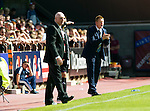 Hearts v St Johnstone...04.08.12.Steve Lomas encourages his players.Picture by Graeme Hart..Copyright Perthshire Picture Agency.Tel: 01738 623350  Mobile: 07990 594431