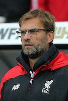 Liverpool manager Jorgen Klopp the Barclays Premier League match between Swansea City and Liverpool at the Liberty Stadium, Swansea on Sunday May 1st 2016