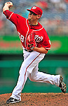 15 August 2010: Washington Nationals relief pitcher Drew Storen on the mound closing out a game against the Arizona Diamondbacks at Nationals Park in Washington, DC. The Nationals defeated the Diamondbacks 5-3 to take the rubber match of their 3-game series. Mandatory Credit: Ed Wolfstein Photo
