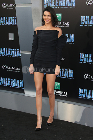 HOLLYWOOD, CA - JULY 17: Kendall Jenner at the Valerian And The City Of A Thousand Planets World Premiere at the TCL Chinese Theater in Hollywood, California on July 17, 2017. Credit: Faye Sadou/MediaPunch