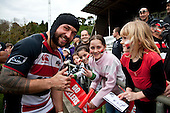 DJ Forbes signs autographs for young fans after the Air New Zealand Cup Rugby Union match between Counties Manukau and Taranaki played at Growers Stadium, Pukekohe, on Saturday 23 August 2009.