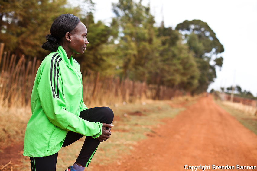 Mary Keitany, who is preparing to defend her 2011 London Marathon title, is one of a small band of Kenya's elite marathon runners, training in the countryside around Iten, the high-altitude town in western Kenya that has become the centre of long-distance running for hundreds of amateur and professional athletes.
