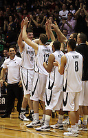 The Tall Blacks celebrate during the International basketball match between the NZ Tall Blacks and Australian Boomers at TSB Bank Arena, Wellington, New Zealand on 25 August 2009. Photo: Dave Lintott / lintottphoto.co.nz