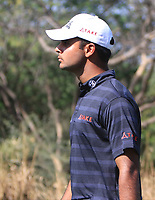 Shubhankar Sharma (IND) in action on the 11th during Round 3 of the Hero Indian Open at the DLF Golf and Country Club on Saturday 10th March 2018.<br /> Picture:  Thos Caffrey / www.golffile.ie<br /> <br /> All photo usage must carry mandatory copyright credit (&copy; Golffile | Thos Caffrey)