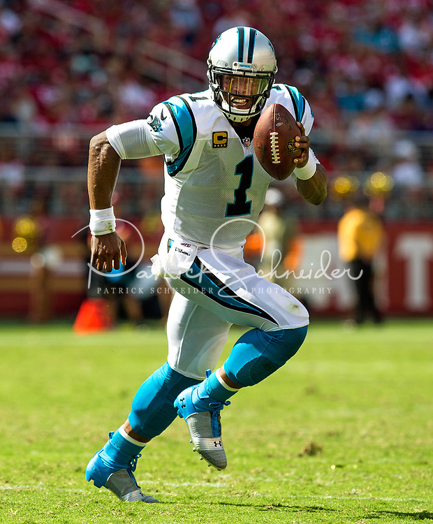 09/10/17: Photography of the Carolina Panthers v. The San Francisco 49ers, during their NFL season opener game, Sunday afternoon at Levi Stadium in Santa Clara, California. <br /> <br /> Photo by: PatrickSchneiderPhoto.com